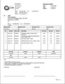 purchase order sle template invoice template pdf nanopics pictures