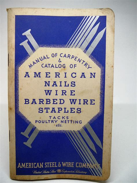 vintage catalog american nails wire barbed wire staples