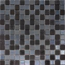 1sf modern black iridescent glass mosaic tile kitchen