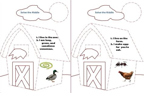 Auditory Memory Activities Worksheets by Speeching Around Auditory Processing Animal Riddles