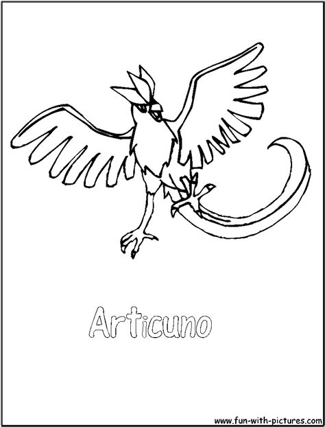 pokemon coloring pages articuno articuno coloring page
