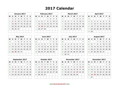 calendar for the year 2017 stock photo image 65742420