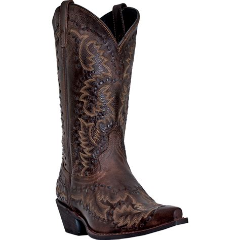 mens brown cowboy boots laredo mens brown leather midnight rider 12