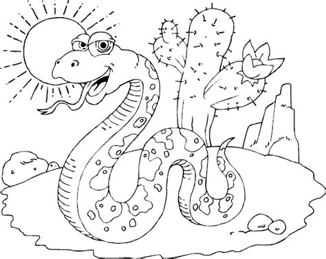 Desert Coloring Pictures
