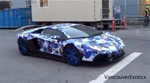 Camo Lamborghini Bape Camo Lb Lamborghini Aventador W Ipe Startups Revs