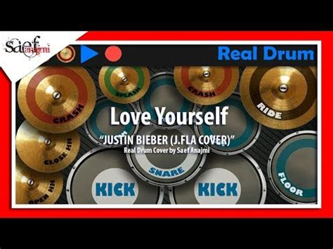 real drum cover tutorial justin bieber love yourself j fla cover real drum