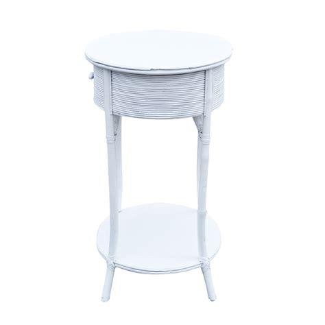 White Wicker Table by Mid Century White Wicker Side Table Ebay