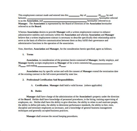 position contract template contract template 9 free documents in pdf