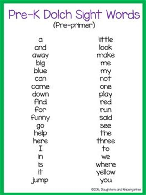 dolch sight word printable memory games 25 best ideas about pre k sight words on pinterest
