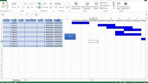 créer diagramme de gantt excel 2010 diagramme de gantt basique avec excel formation excel et