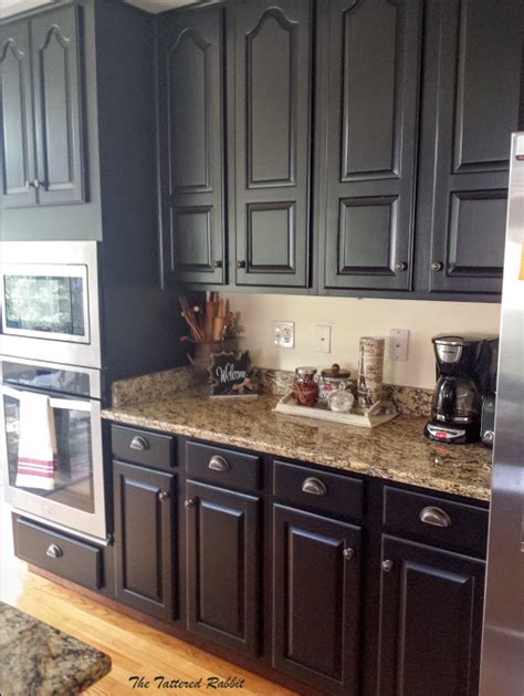 How To Makeover Kitchen Cabinets Cherry Kitchen Cabinet Makeover Black Painted Kitchen Cabinets How To Paint Raised Panel Kitchen