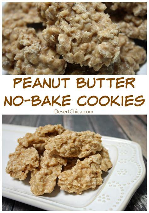 peanut butter no bake cookies desert chica