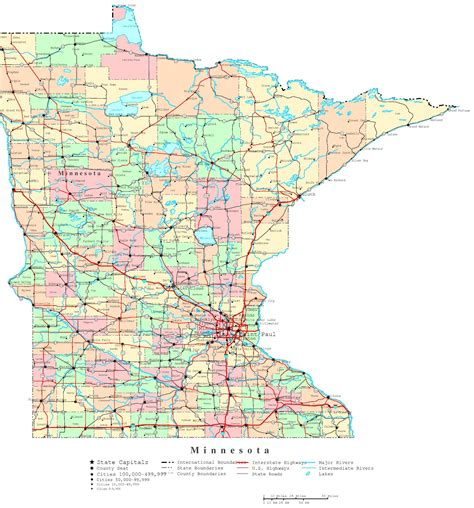 minnesota state map minnesota state map my