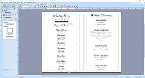 publisher program templates wedding program templates wedding programs fast