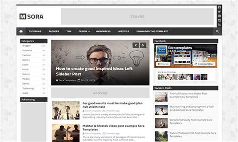 blogger themes protemplateslab msora blogger template
