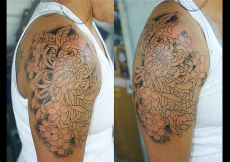 41 Breathtaking Chrysanthemum Tattoos Designs Ideas Colorful Cool Arm New Pattern For 2011 12