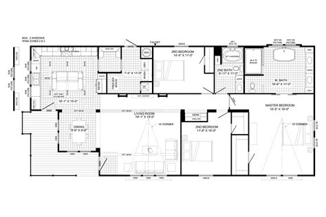 Single Mobile Home Floor Plans the lulamae by buccaneer magnolia estates of brookhaven