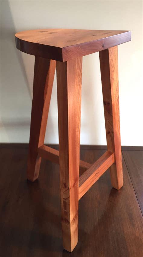 Handmade Furniture Scotland - elm barstool thomson timber