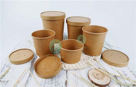 Food Grade Brown Kraft Paper Bowl Lid Paper Bowl Coklat 8oz 240ml home products paper cups disposable brown kraft paper soup cups soup bowls