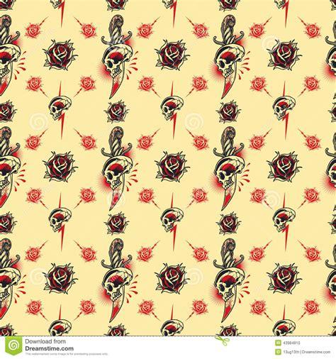seamless pattern tattoo tattoo seamless pattern stock vector image 43984810