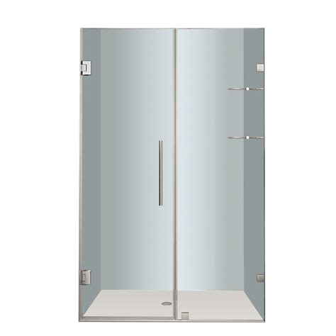 Nautis Gs 44 In X 72 In Completely Frameless Hinged Shower Doors Canada