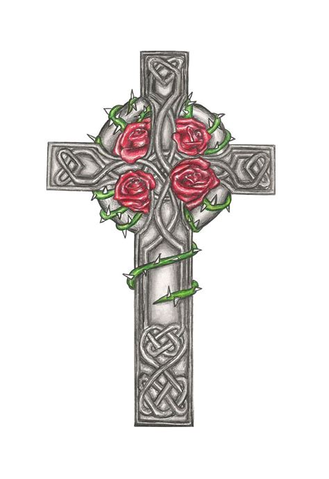 celtic cross with banners tattoos www imgkid com the