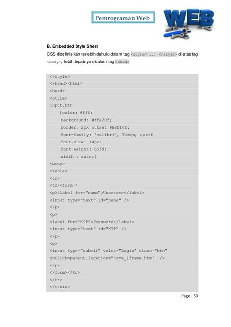 tutorial membuat website dengan notepad pdf contoh file html dan css contoh agus