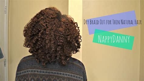 braid out for thin hair braid out for thin fine natural hair youtube