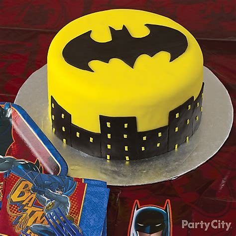 Home Decorating Ideas Black And White by Batsignal Batman Cake How To Party City