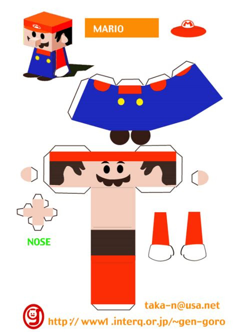 mario crafts for mario papercraft mario origami