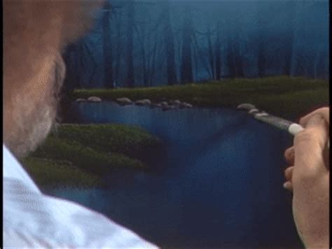 bob ross painting gif gif bob ross painting rocks supreee