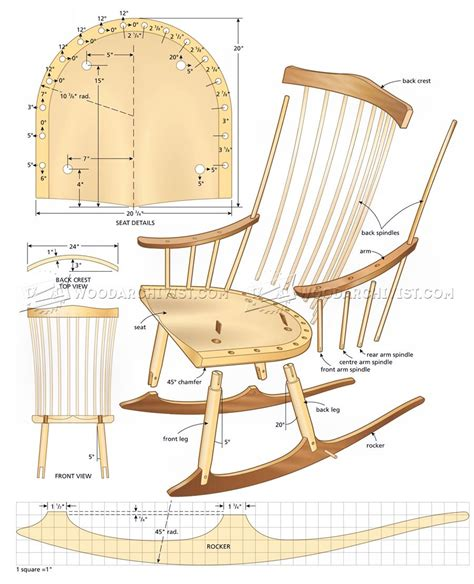 rocking chair design plans free wooden chair plans blueprints
