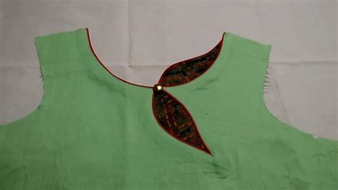 boat neck with leaf design kurti front leaf neck new design cutting and stitching