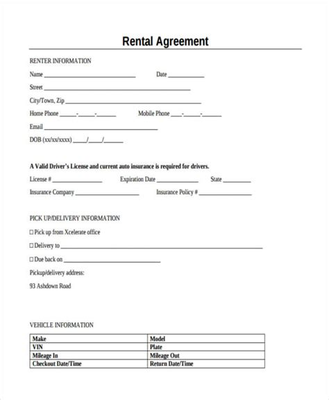 Letter Of Agreement To Rent A Car 10 40 ez form free hr block