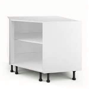 caisson de cuisine bas d angle pc100 delinia blanc l 100 x