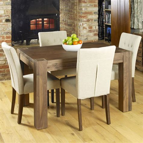 solid walnut dining table and chairs mayan solid walnut modern furniture small dining