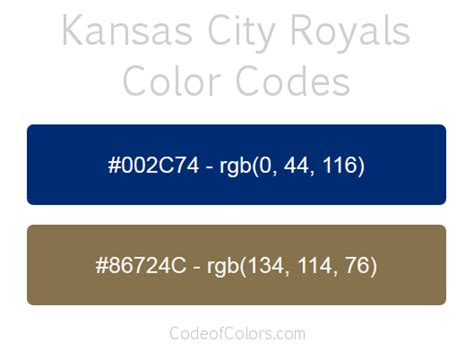 kansas city royals colors kansas city royals colors hex and rgb color codes
