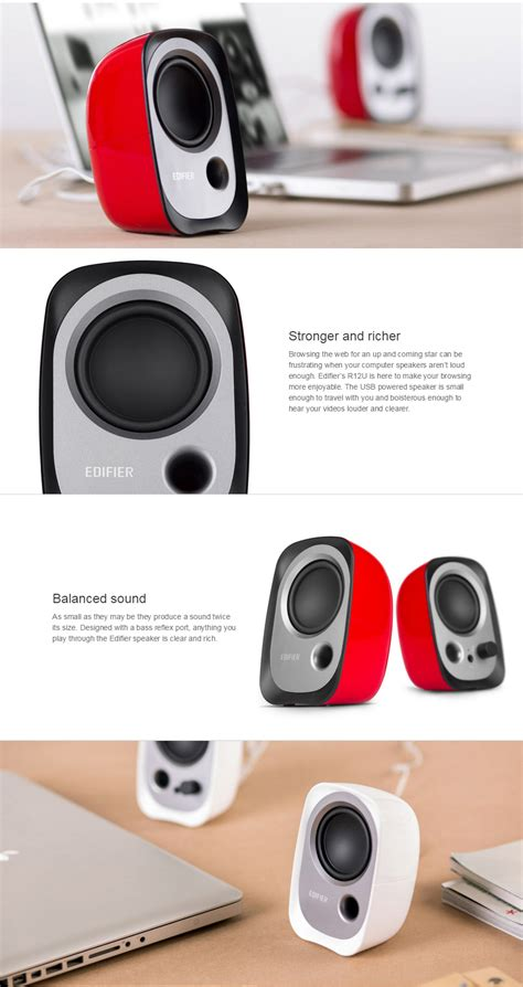 Speaker Edifier R12u edifier r12u 2 0 usb powered speakers r12u r pc