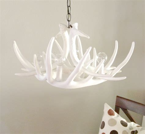 white antler chandelier pretty white antler chandelier homesfeed