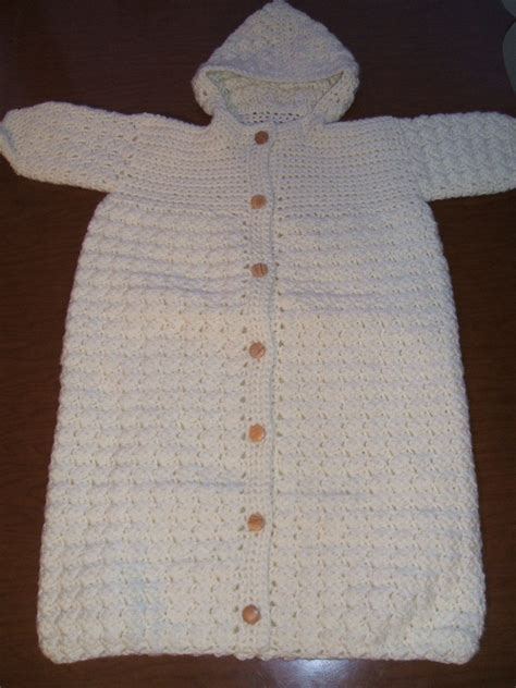 free crochet pattern baby bag baby sleeping bag dressed in crochet