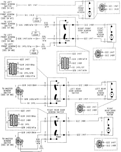 28 jeep grand wj window wiring diagram
