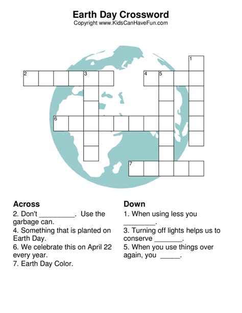 earth day printable jigsaw puzzles earth day crossword puzzle earth day pinterest