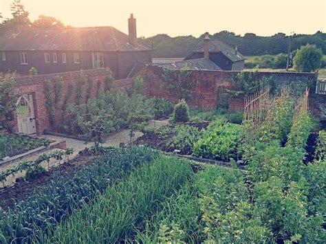 walled kitchen garden at the pig hotel in brockenhurst in