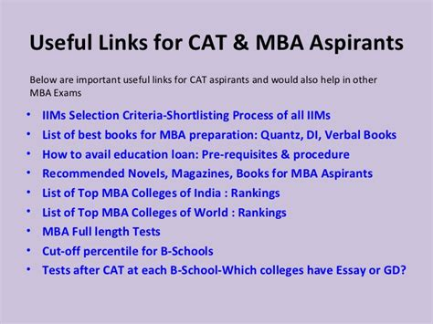 Importance Of Mba From Iim by Cat Mba Preparation Tips Useful Links