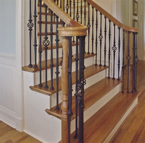 Metal Stair Banisters by Custom Iron Stair Balusters Traditional Staircase By Custom Hardwood Stair Parts