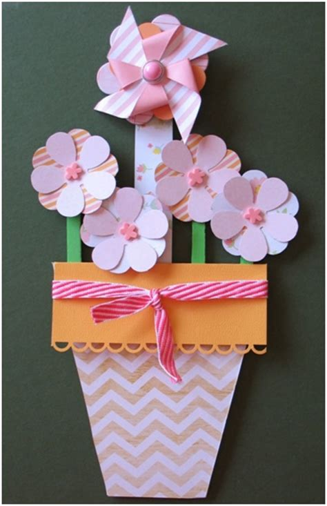 Paper Craft Flower Pot - plant some paper flowers think crafts by createforless