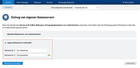 deine domain von united domains mit den nameservern von