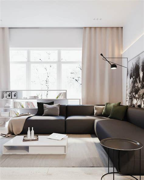 ukrainian apartment interiors musician minimalist black and white interior decoholic