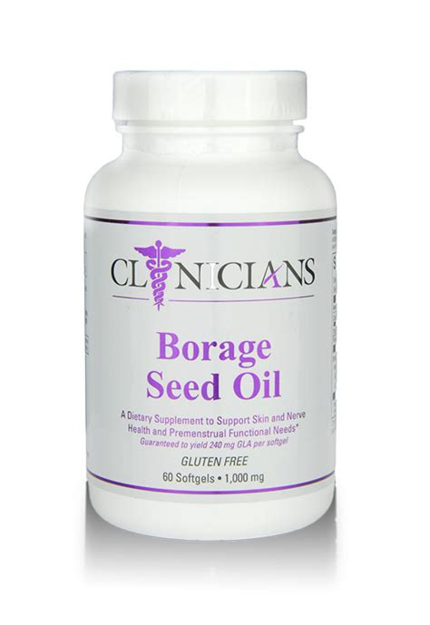 Borage Detox by Borage Seed Clinicians Supplement Consultants