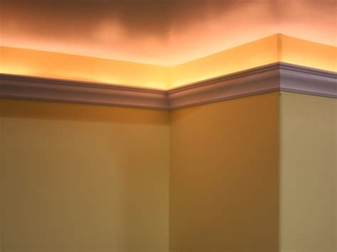 crown molding lighting 5 quot glue on crown molding with light channel trim tex